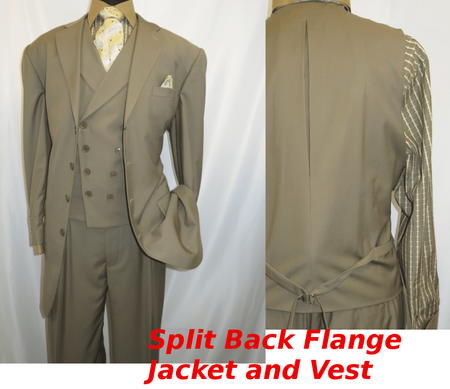 Men Church Suits Tan Slant Vest 4 Button 3 Piece Milano 5263v - click to enlarge