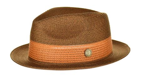 Men's Brown Summer Fedora Hat Bruno Capelo BW842