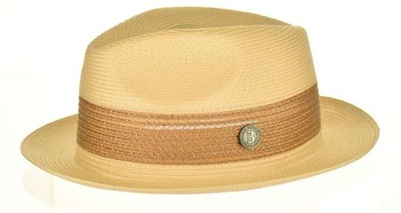 Men's Camel Summer Fedora Hat Bruno Capelo BW841
