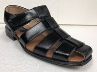 Men's Dress Sandals Black Texture Closed Toe 33216