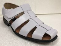 Men's Dress Sandals White Closed Toe 33216