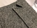 Men's Double Breasted Wool Coat Knee Length Herringbone Alberto Manhattan IS