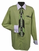 Men's Lime White Collar French Cuff Dress Shirt Tie Set DS3006WTPRT