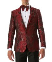 Men's Red Swirl Slim Fit Prom Blazer Ferrecci Romi