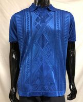 Men's Royal Shiny Knit 1960s Style Polo Shirt by Pronti K6413
