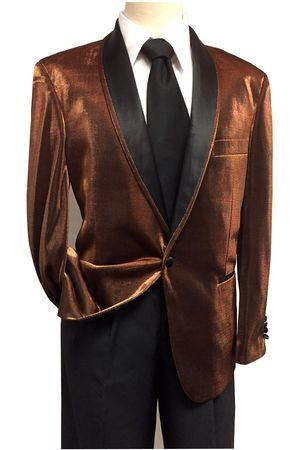 Mens Shiny Rust Dinner Jacket B.Martini Park 5876 Size M, 3XL