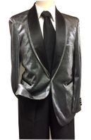 Mens Shiny Silver Dinner Jacket B.Martini Park 5876 IS