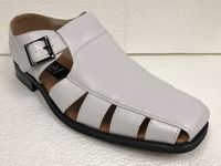 Men's White Dress Sandals Closed Toe 33289