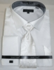 Men's White Sharkskin French Cuff Dress Shirt Tie Combo DN82