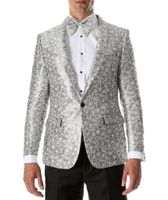 Men's White Slim Fit Prom Blazer Ferrecci Rene