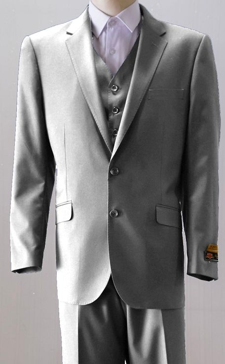 Ferrecci 54L Mens 2pc 2 Button Regular Fit Charcoal Suit