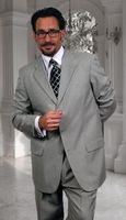 Men's Wool Suit Gray 3 Button Type Vented Jacket Regular Style Fit Alberto 3BVP-1 2pc