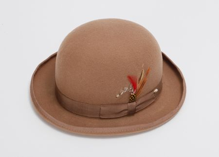 eabf3790691359 Mens 100% Wool Beige Bowler Derby Dress Hat 4745
