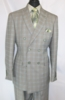Mens 1930s Gangster Style Green Plaid Double Breasted Suit EJ M2704