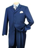 Zoot Suit Mens Party Style Indigo Blue with Vest Alberto Zoot-100