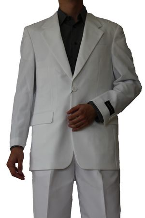 Mens Basic Suit White 2 Button Single Breast Fortini 702P 2PP