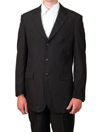 Lucci Black Blazer for Men 3 Button Classic Sport Coat NZ-3PP