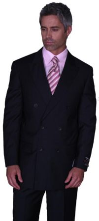 Men's Black Double Breasted Suit Milano 5901 - click to enlarge