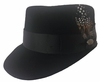Mens Black Legion Hat 100% Wool Cap Legend