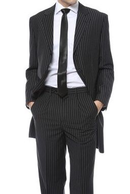 Ferrecci Black White Stripe Zoot Suit New York