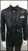 Mens Black Velvet Blazer Entertainer Shiny Dot Blu Martini 5842 IS