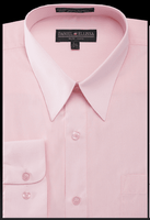 Daniel Ellissa Mens Pink Dress Shirt Regular Fit DS3001