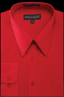 Daniel Ellissa Mens Red Dress Shirt Regular Fit DS3001
