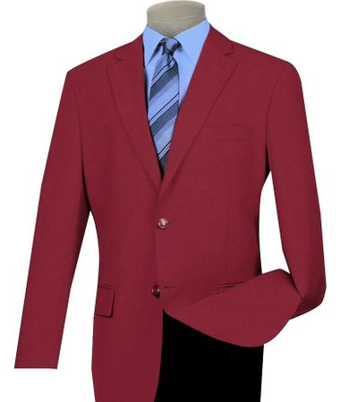 Mens Burgundy Blazer Painted Buttons Lucci Z-2PP