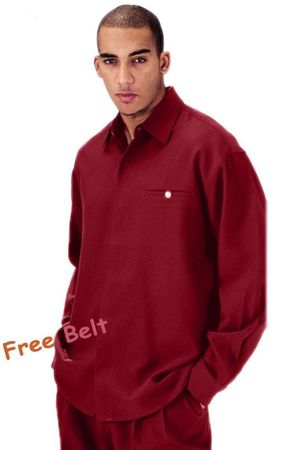 Mens Burgundy Dress Outfits Long Sleeve Milano L2612