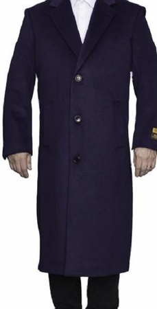 Mens Wool Topcoat Colorful Purple Split Back Overcoat Alberto Nardoni - click to enlarge