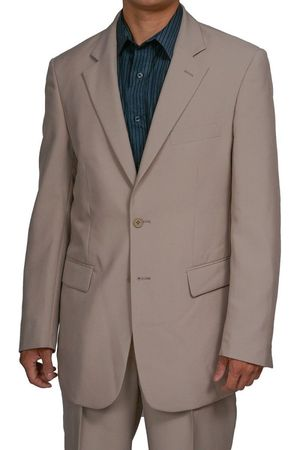 Mens Cheap Beige Suit Discounted on Sale 2PP - click to enlarge