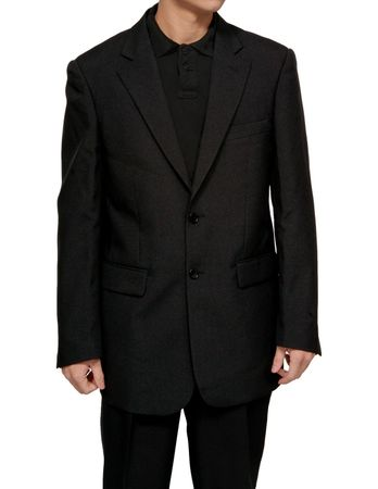 Mens Cheap Black Suit Discounted on Sale 2PP - click to enlarge