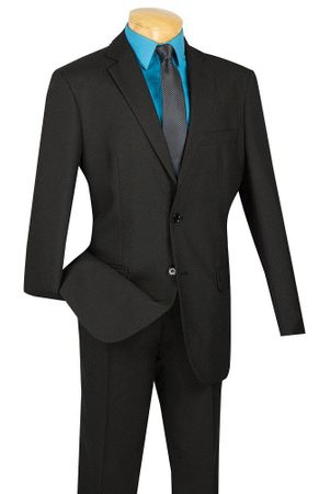 Men's Cheap Black Fitted Suit Lucci S-2PP