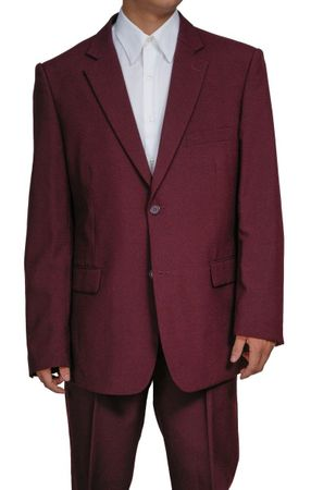 Mens Cheap Burgundy Suit Discount on Sale 2PP - click to enlarge
