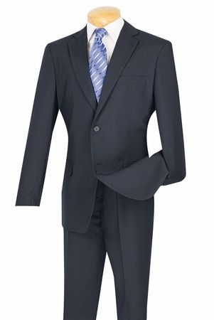 Men's Cheap Navy Blue Fitted Suit Lucci S-2PP