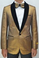 Mens Copper/Black Velvet Textured Pattern Prom Tuxedo Jacket Alberto Paisley-300