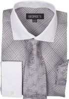 Mens Dress Shirt Tie Hankie Sets