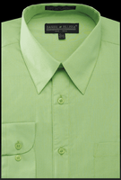 Daniel Ellissa Mens Apple Green Dress Shirt Regular Fit DS3001