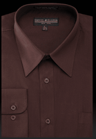Daniel Ellissa Mens Dark Brown Dress Shirt Regular Fit DS3001