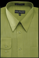 Daniel Ellissa Mens Dark Green Dress Shirt Regular Fit DS3001