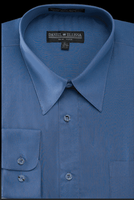 Daniel Ellissa Mens Denim Blue Dress Shirt Regular Fit DS3001