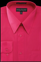 Daniel Ellissa Mens Fuchsia Dress Shirt Regular Fit DS3001