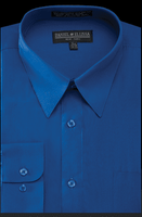 Daniel Ellissa Mens Royal Blue Dress Shirt Regular Fit DS3001