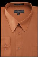 Daniel Ellissa Mens Rust Dress Shirt Regular Fit DS3001