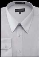 Daniel Ellissa Mens Silver Dress Shirt Regular Fit DS3001