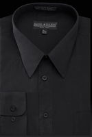 Daniel Ellissa Mens Black Dress Shirt Regular Fit DS3001