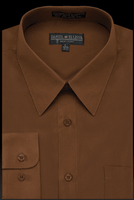 Daniel Ellissa Mens Brown Dress Shirt Regular Fit DS3001