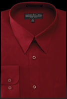 Daniel Ellissa Mens Burgundy Dress Shirt Regular Fit DS3001