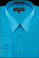 Daniel Ellissa Mens Turquoise Dress Shirt Regular Fit DS3001