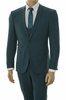 Men's Extra Skinny Fit Suit Forrest Green 3 Pc. Stretch Fabric US631V